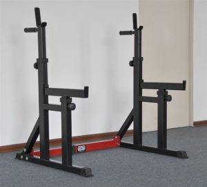 squat stand with spotters